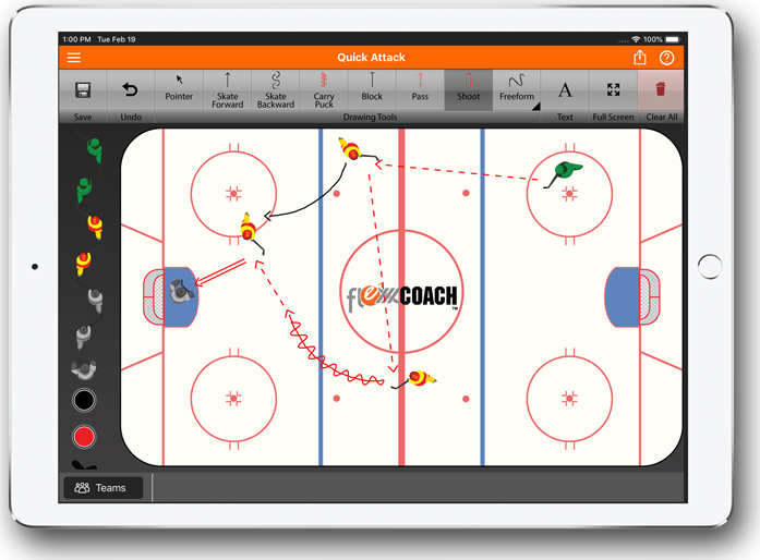 sportBOARD Quick Attack Diagram
